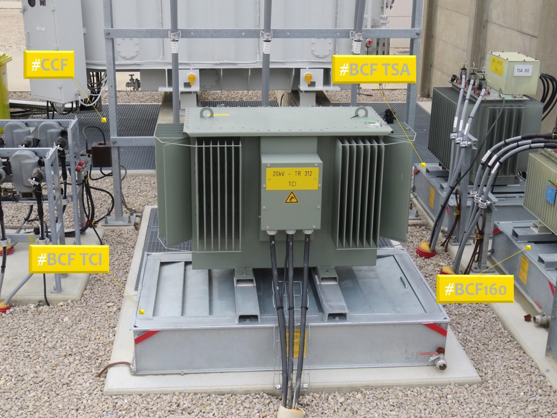 bac anti feu BCF pour impédance de comensation bac pour TSA et bac pour BPN poste source CCF chassis coupe feu