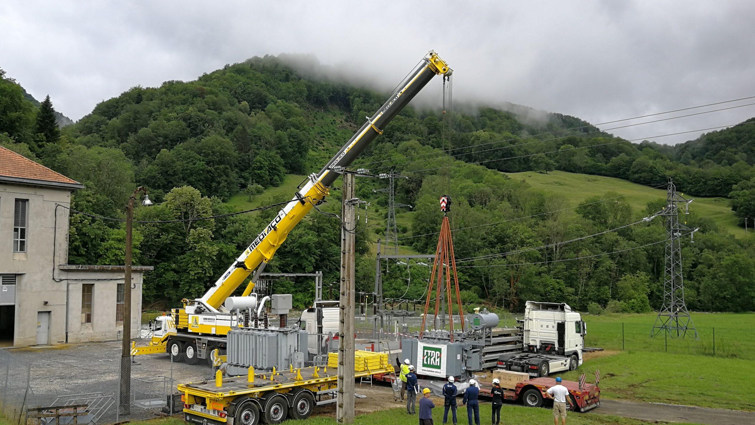 SONEC et kolektor ETRA offre de service clef en main KESA pour le montage de vos transformateurs sur site