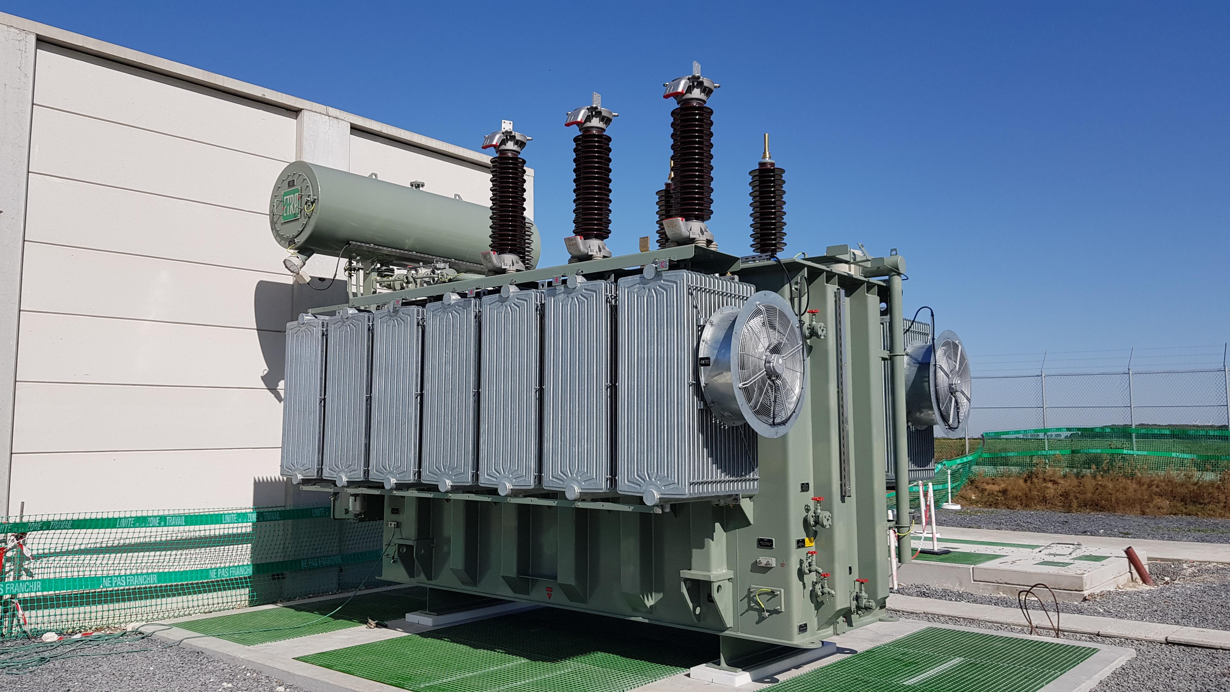 Installation of a 63KV 40MVA ONAN/ONAF oil-filled power transformer