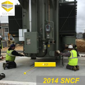 02-Installation d'un transformateur de puissance sur fosse de rétention équipée d'un couverture coupe-feu CCF SONEC