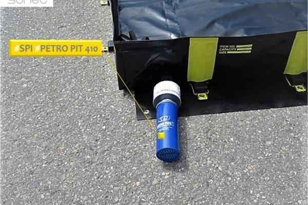 Bacs de rétention souples TRFLEX avec filtre a eau anti hydrocarbures SPI site RTE SANERGRID SONEC