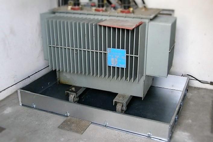 installation d'un bac de rétention BR2S SONEC pour rétention des huiles