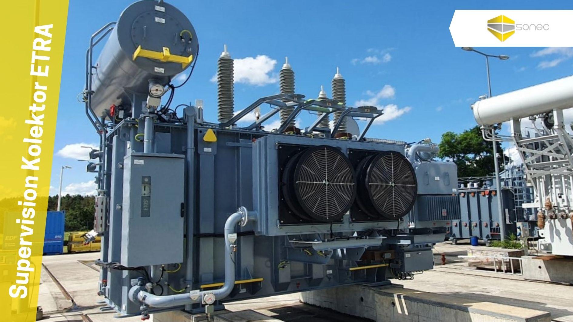 supervision SONEC d'un montage de transformateur pour chaniter EDF